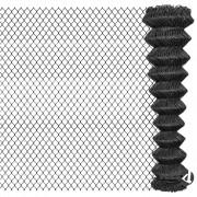 vidaXL Žičana ograda 15 x 1,95 m čelična siva
