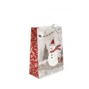 Dárková taška vánoční stříbrná 18x24 cm Avantgard 936-22