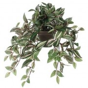 Mica Decorations Groene Tradescantia/vaderplant kunstplanten 45 cm met pot - Kunstplanten