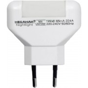Lampă de veghe led alb-cald Megaman MM001 rectangular alb
