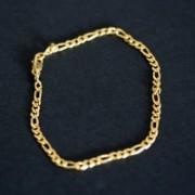 Pulseira Banho de Ouro 3x1 20cm / 2mm p507