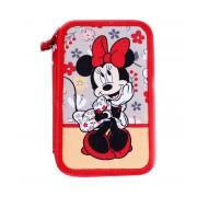 Penar neechipat 3 fermoare Pigna Minnie Mouse rosu MNPE1903-1