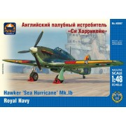 "Hawker ""Sea Hurricane"" Mk.IB British carrier-borne fighter, the Fleet Air Arm of the Royal Navy repülőgép makett Ark Models AK48007"