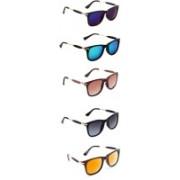 Ultra Digits Wayfarer Sunglasses(Violet, Blue, Brown, Grey, Orange)