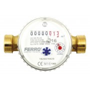 Contor pentru apa cu racorduri filetate 3/4 DN15