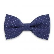 Előre kötött férfi nyakkendő kék színben, pöttyös mintával 10058