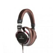 Слушалки Audio-Technica ATH-MSR7GM, микрофон, 40мм Тruе Моtіоn говорители, High-Resolution аудио, бързи бутони, алуминиев/магнезиев корпус, сваляем кабел, кафеви