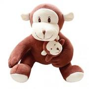 Cute Kids Doll Soft Plush Toys Cuddly Dolls Birthday Gift, Monkey / Deep color