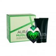 Thierry Mugler Aura darčeková kazeta Naplniteľný pre ženy parfumovaná voda naplniteľná 50 ml + telové mlieko 50 ml + sprchovacie mlieko 50 ml