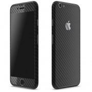 Apple iPhone 6 Plus / 6s Plus FoliaTa Skin Kit Carbon Fata / Spate, Black