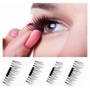 4 Pcs 3D Pestañas Postizas De Belleza Maquillaje Accesorios Magnéticos Ojos Pestañas Extensión Herramientas, 03 #, Eyelash Length Cm