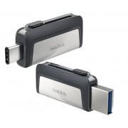 USB DRIVE, 128GB, SanDisk Ultra Dual Drive USB 3.0/ Type-C (DDDC2-128G-G46)