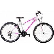 Bicicleta mountainbike X-Fact 26 Xplorer pentru adulti alb marime cadru 19