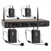 Duett Quartett Fix V3 Conjunto de Microfones Sem Fios Wireless 4 canais UHF 50 m