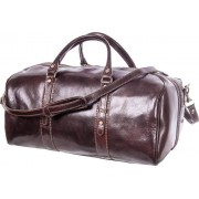 Luciano Fabrini Medium Leather Barrel Bag - Brown