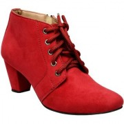 Exotique Women's Red Casual Boot (EL00340RD)