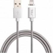 Cablu de date Tellur USB - Lightning conector magnetic 1m Argintiu