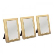 Confetti Mini Photo frame Favour in Gold or Silver Easel Back (3) - Matte Gold