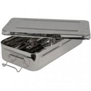 scatola con manici in acciaio inox - autoclavabile - 30x15x6cm