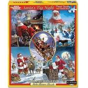 White Mountain Puzzles Santas Big Night - 1000 Piece Jigsaw Puzzle