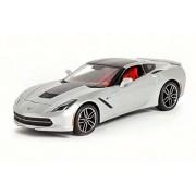 2014 Corvette Stingray Z51, Silver - Maisto 38132 - 1/18 Scale Diecast Model Toy Car