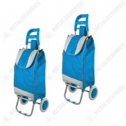 Pachet 2 bucati - Carut pentru piata, 2 roti, bleu, suporta 20kg