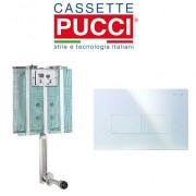 Pucci Cassetta Di Scarico Da Incasso Modello Pucci Eco Completa Di Placca Eco Linea Bianca