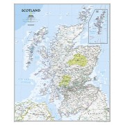 Wandkaart Scotland – Schotland, 76 x 91 cm | National Geographic