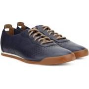 Clarks Siddal Run Dark Blue Lea Sneakers For Men(Navy)