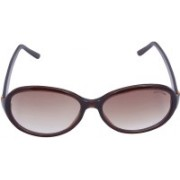 Miami Blues Oval Sunglasses(Brown)