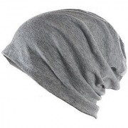 Beanie Cap Grey Woolen Cap Slouchy Cotton for Men Women Unisex