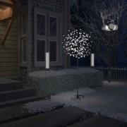 Pom Crăciun, 200 LED-uri alb rece, flori de cireș, 180 cm