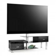 LK-1 TV-Tisch mit LCD-TV-Halterung schwarz Glas Möbel