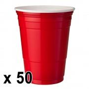 StudyShop 50 st. Red Cups Röda Muggar (16 Oz.)