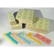 Bingokaarten 1-75 boekjes 10 dik KLEIN - Uitvoering: Enkel