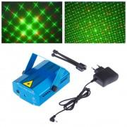 Proiector 3D Laser LED cu Jocuri de Lumini, 2 Culori si Senzor de Sunet, Iluminare pe Ritmul Muzicii
