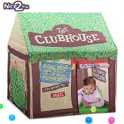 Nice2You Kids Play Tents Green Baby Toy Tent Large Children Game Room Boy Girl Castle Cubby Playhouse Birthday Gifts Outdoor Indoor Toys