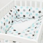 Fluffymoon Бортик в кроватку Fluffymoon Blue Sky 120x60 см