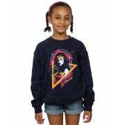 Absolute Cult DC Comics Girls Wonder Woman 84 Diana 80s Triangle Sweatshirt Noir 5-6 Years