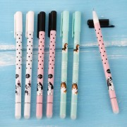 3 pcs/lot Cool Dog Blue Black Erasable Gel Pen Signature Pen Escolar Papelaria School Office Supply Promotional Gift