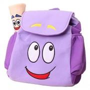 Dora Explorer Backpack Rescue Bag with Map,Pre-Kindergarten Dora Backpack Purple Wen FEIYU