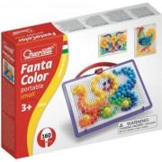 Set de joaca Quercetti Fanta Color Portabil Mozaic model 1, 160 piese