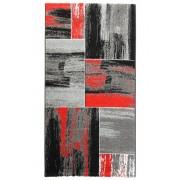 Červený kusový moderní koberec Hawaii - délka 150 cm a šířka 80 cm