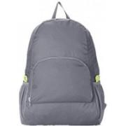 MadSan Unisex Foldable Backpack Light weight, Easy to Carry Folding Bag (Shoulder Bag, Backpack) 1 L Backpack(Grey)