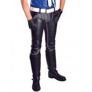 Mister B Leather FXXXer Jeans Pants Black/Grey 111800