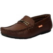 FAUSTO Men's Casual Loafers For Men(Brown)