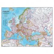 Harta politica a Europei mare National Geographic