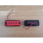 Lampa rosie cu LED-uri 24V