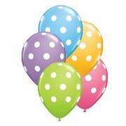 PrettyurParty Polka Dots Latex Balloons (Pack of 10)