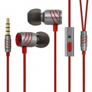 GGMM C800 3.5mm Wired In-ear Earbud Earphone with Microphone for iPhone Samsung - Red